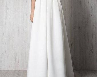Bridal  BIANCA skirt Wedding Separates skirt with pleats 30 colors  Plus size available bridesmaid skirt
