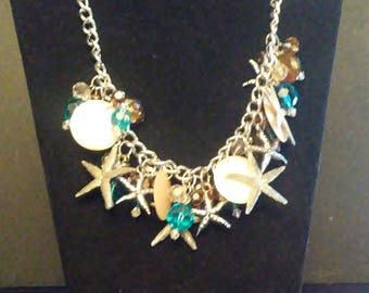 Whimiscal Star Fish Charm Necklace