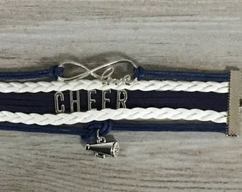 Cheerleading Gift -Cheer Bracelet – Cheer Gift - Cheerleading- Cheer Jewelry- Perfect Gift for Cheerleaders, Cheer Coaches & Cheer Teams