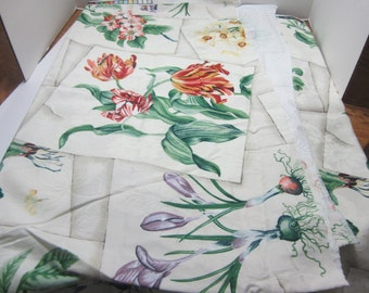 """A BRAEMORE Design Embossed Floral Screen Print--1 yard and 34"""" long by 54"""" wide"""