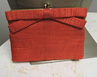 Red Little Clutch With Bow