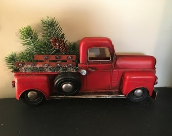 Red Christmas Truck for Wall Hanging