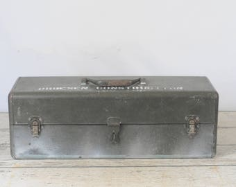 Vintage Tackle Box Fishing Box Tool Box Toolbox Metal Box Orbesen Construction