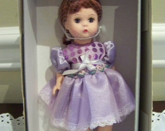lovely lilac Madame Alexander doll 8 inch