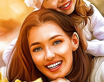 Mothers day offer 20% off storewide, Gift your Mother with oil painting portrait
