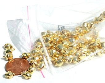 Bells 100 pieces 6mm Gold color Steel Jewelry Craft Supplies Jewelry Bell charms
