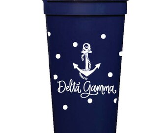 Delta Gamma  Stadium Cup with Dots