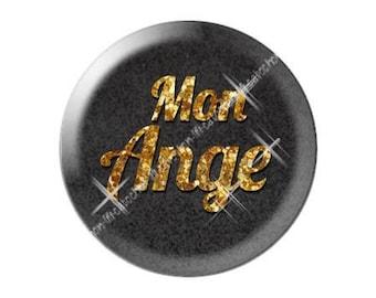 glass cabochon 25mm Valentine love Angel