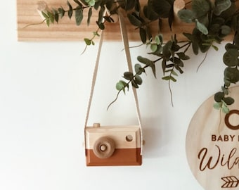 Wooden Camera - Nursery, kids room decor / wooden toy