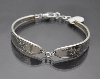 Vintage Silverware Bracelet Queen Bess II