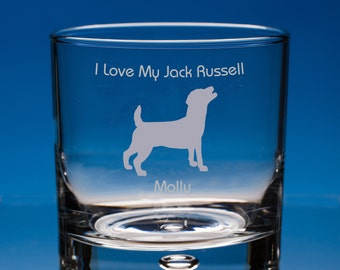 Jack Russell Whisky Glass, Jack Russell Terrier Whiskey Glass, Jack Russell, Dog Lover Gift, Personalised, Terrier Gift, Jack Russell Gift