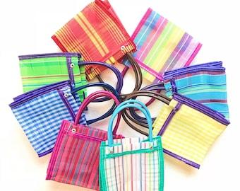 Mexican mercado bag, Mercado bag, Mexican bag, Market bag, Fiesta favors, Fiesta decorations, Mexican mesh bag, Mexican wedding, SET of 10
