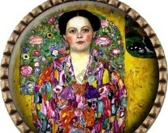 Bronze pendant Cabochon - woman Klimt (300)