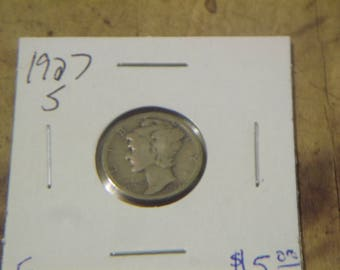 1927-S Roosevelt Silver Dime