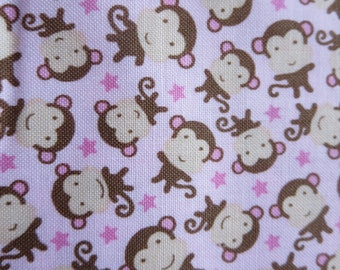 One Week Special- Riley Blake - Sweet Baby Girl - C4295 - Monkeys Pink 6.99 A Yard