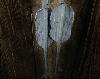 You and Me - hand forged metal sculpture symbolizing a couple. Metal interior art. Wedding gift. Anniversary gift. valentine's day gift