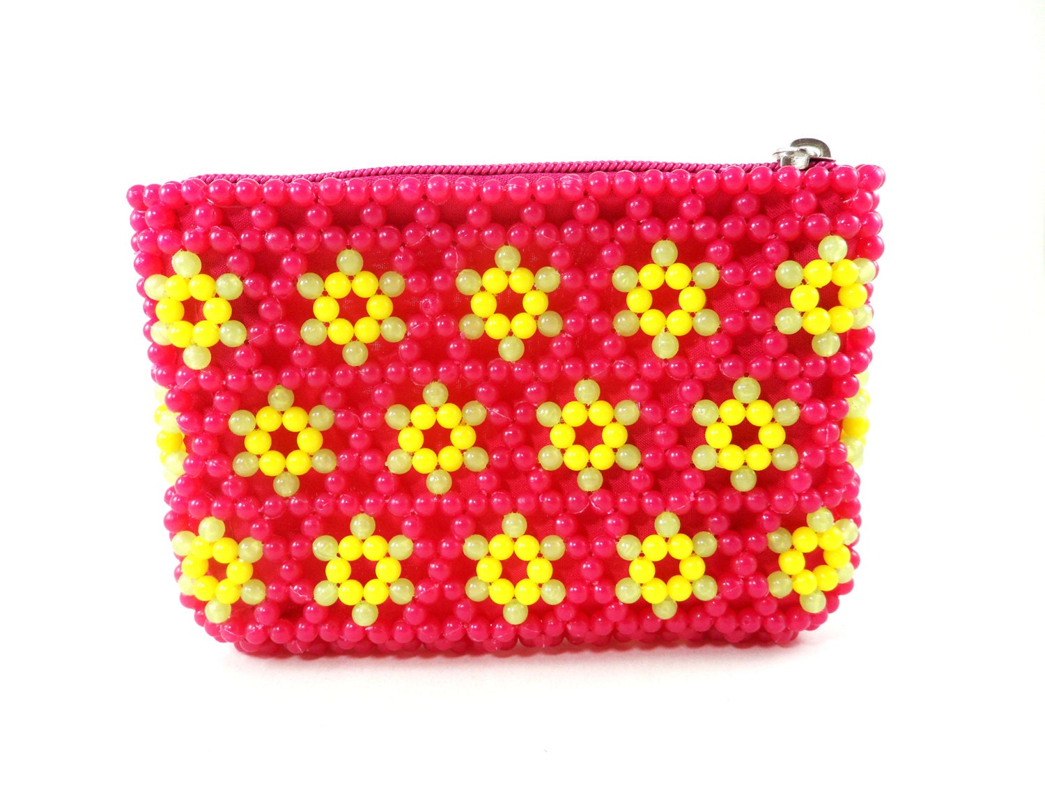 Beaded Wallet Beaded Coin Purse Floral Beaded Mini Clutch