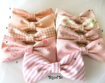 Blush Wedding Bow Ties, Mix and Match Coordinated Custom Wedding Bow Ties, Blush Bow Ties, Petal Bow Tie