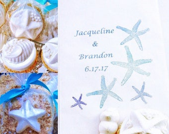 25 Beach Wedding Favors Candy Bags For Seashell Chocolate Covered Oreos Custom Candy Buffet Bags For Unique Wedding Favor ~ Party Favors Bag