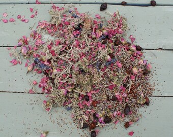 Natural Dried Flowers, Herbs, Potpourri, Petals ROSE, LAVENDER BLEND No8