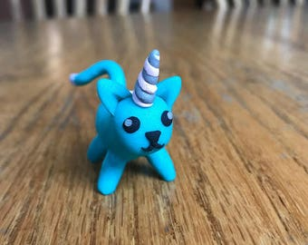 Unicorn Cat - Polymer Clay