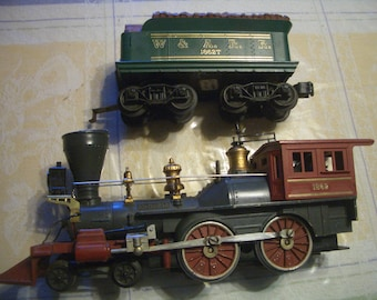 Original LIONEL #1862 Civil War GENERAL Engine and W&ARR Tender,Made only from 1959 to 1962, Excellent Plus, L@@k!
