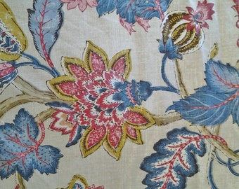 "P Kaufmann Fabric - Boscobel Design - 54"" Width - Sold By The Yard - Patriot"