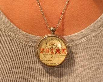 Think Pocket Watch Necklace