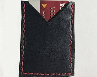Leather Wallet - Slim Cardholder - Mens leather cardcase wallet - Leather Card Wallet - Slim Wallet - Front Pocket Wallet -Minimalist Wallet