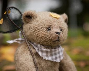 FOR ADOPTION Stuffed animal toys, Mohair bear plush, Artist teddy bear toy, Plush toy, Old teddy bear, Ooak bear, Handmade toy