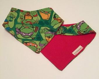 Teenage mutant ninja turtle bandana bib