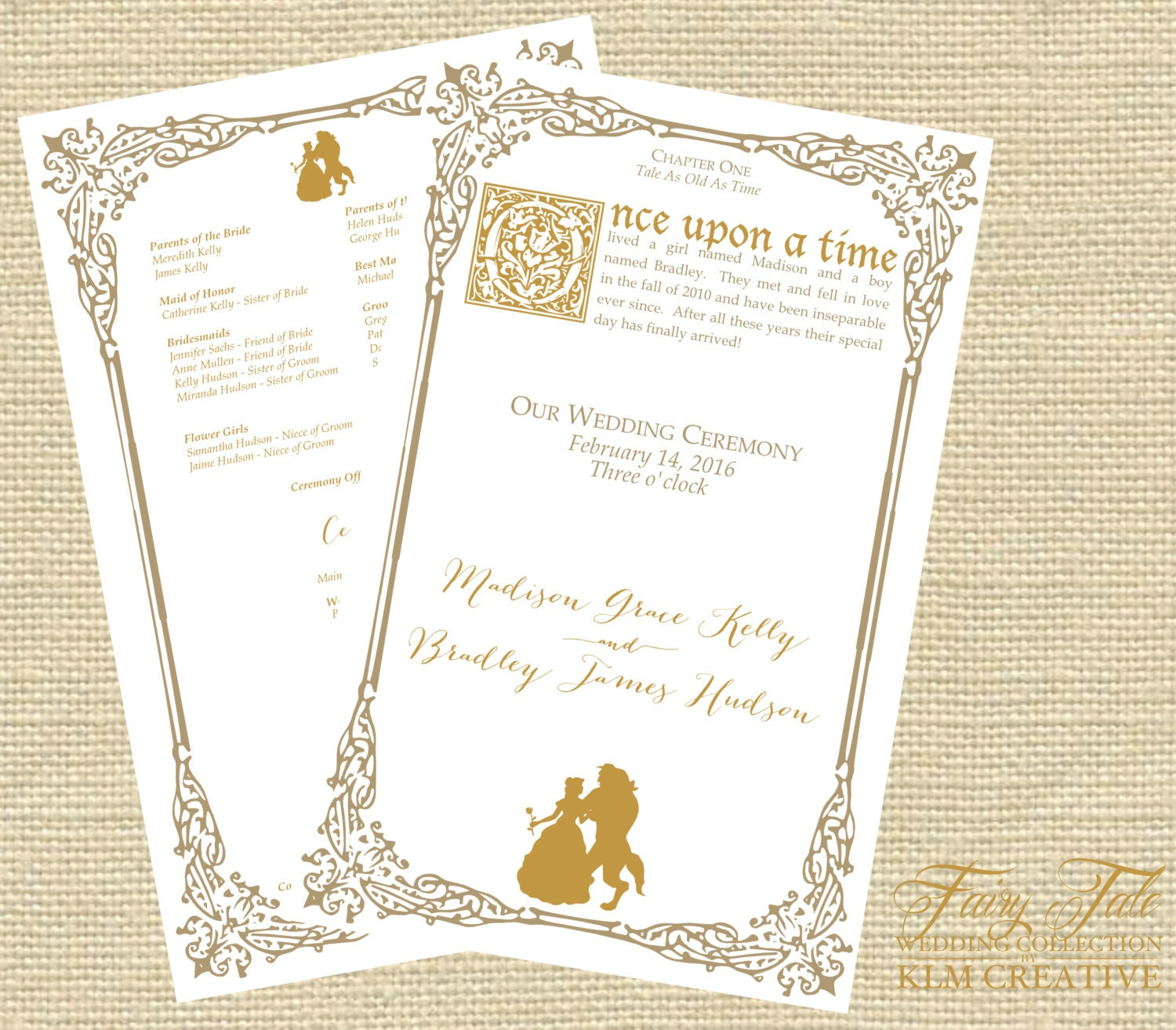 Fairy Tale Wedding Collection Beauty and the Beast Elegant