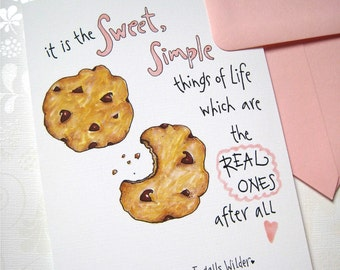 Cookie Birthday Card - Birthday for Her - Friend Birthday - Chocolate Chip Cookies - Cookie Gift Card