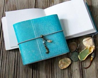 Mermaid Journal pocket size - mermaid seashell beach vacation journal by tremundo