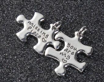 3 puzzle piece charm sets, 8913, 404a