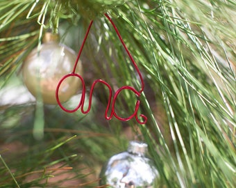 Custom Name Wire Gift Tag Ornament