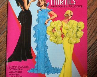 Vintage 1984 Fashion Designs of the Thirties Paper Dolls Book Tom Tierney