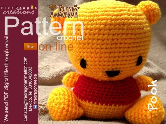 Winnie Pooh Pattern Crochet From Firedragonworkshop On Etsy Studio