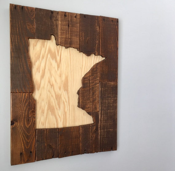 Minnesota Reclaimed pallet wood wall art wooden sign wooden