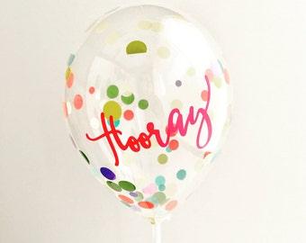 Mini Confetti Balloon with Personalised Sticker