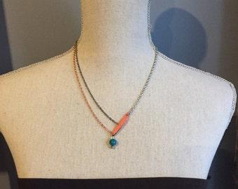 Simple asymmetrical necklace