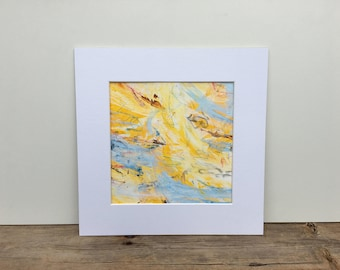 Small Painting, Yellow Painting, Small Yellow Painting, Original Art, Yellow Abstract, Yellow Abstract Painting