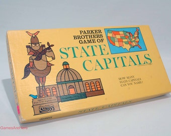 State Capitals Game from Parker Brothers 1966 COMPLETE