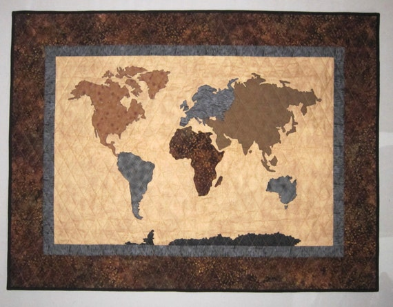 Our world patchwork map quilt pattern full sized templates and our world patchwork map quilt pattern full sized templates and clear instructions from quilts by elena gumiabroncs Gallery