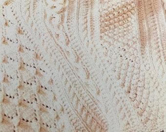 APRILSALE Vintage, 1979 Treasury ofAfghans, by Bernat, book 246, crochet pattern book 9 to knit, 7 to crochet