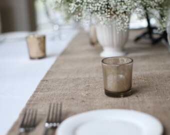 Extra Long Burlap Table Runner Or Custom Sizes Available Rustic Chic Decor  Farmhouse Table Setting