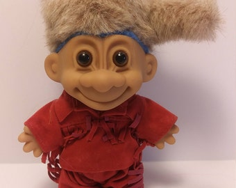 Troll Doll Davy Crockett Daniel Boone Troll Mountain Man