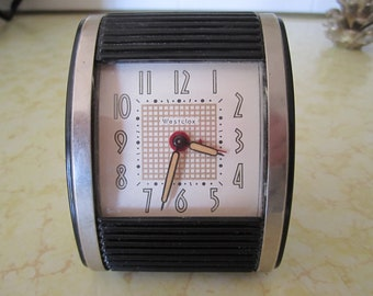 Westclox Travel Clock Alarm Vintage Wind Up Timepiece
