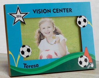Soccer Picture Frame, Personalized Soccer Picture Frame, Kids Sports Picture Frame, Kids Soccer Frame, Sports Picture Frame For Kids, Soccer