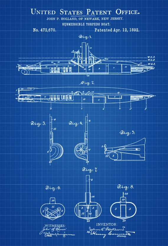 Submarine patent print vintage submarine submarine like this item malvernweather Image collections